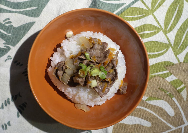 5 Minute Simple Way to Prepare Quick Gyūdon (Japanese Beef Bowl)