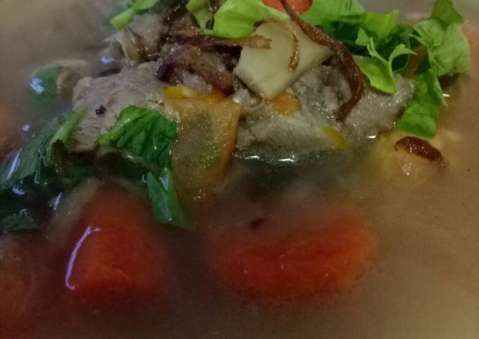 Sup kambing dengan rempah