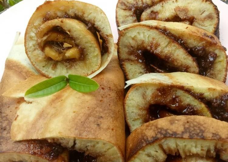 Roll martabak choco banana