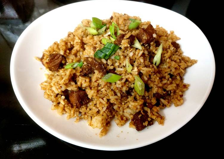 My Tasty Pork with Fried Rice. 😆