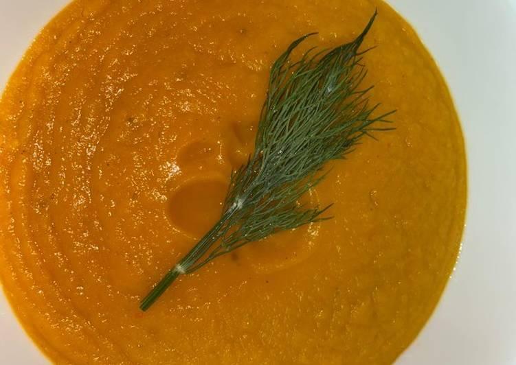 Red Yam Potato Cream Soup