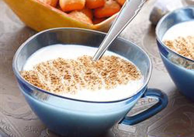 Salep and cinnamon hot drink - sahlab