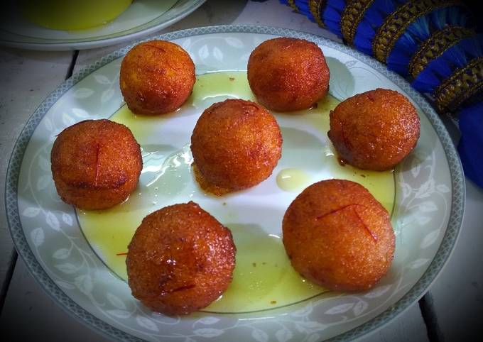 Recipe: Yummy Sooji gulab jamun
