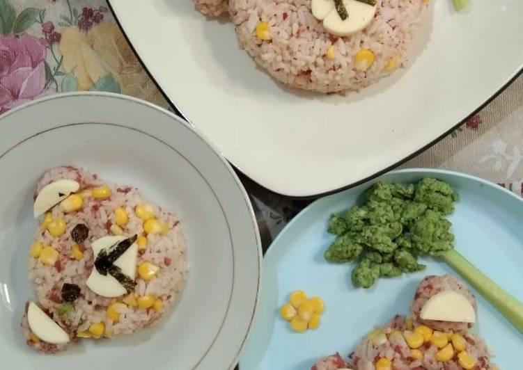 Resep Nasi goreng Merah Kuning Hijau… 😁 Top Enaknya