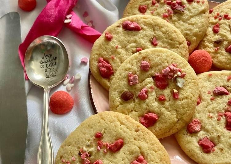Recette Appétissante Cookies à la praline rose