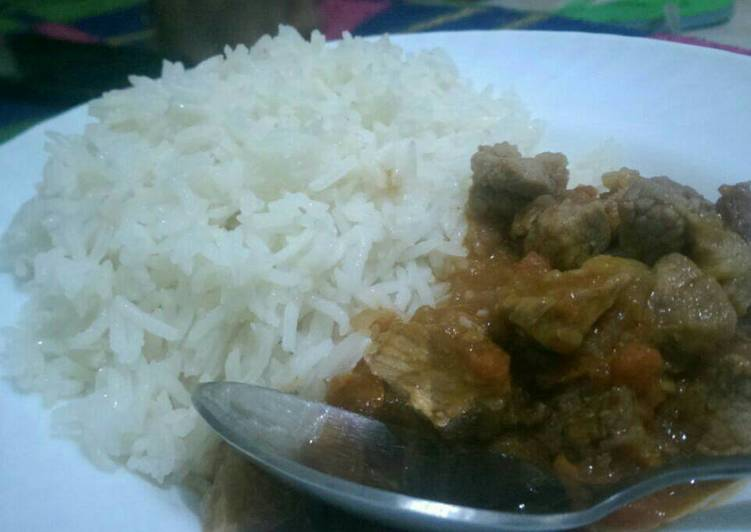 Rice and beef
