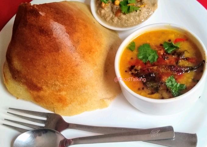 Recipe of Favorite Dosa, Sambhar, Chutney