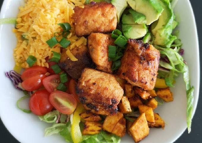 Fish Taco Salad(without tacos)