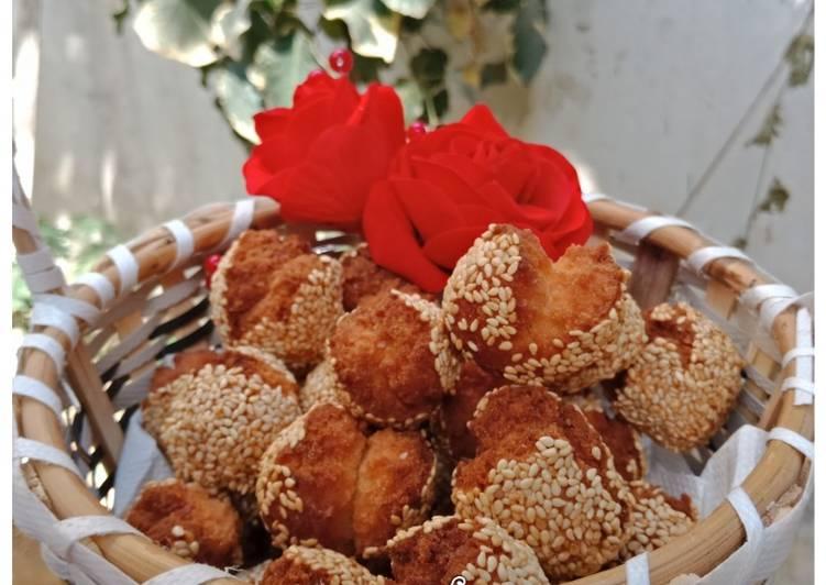Laughing Balls | Chinese Smiling Sesame Cookies