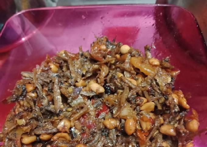 Sambal ikan teri kacang