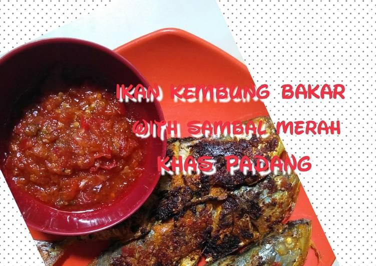 Ikan kembung bakar with sambal merah khas padang