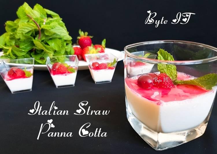 Italian straw panna cotta