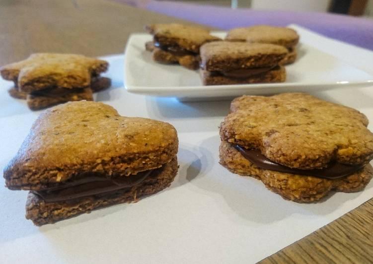 Recette Savoureux Biscuits vegan fourrés