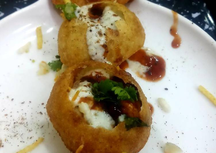 Recipe of Any-night-of-the-week Stuffed ChurMur Dahi golgappa