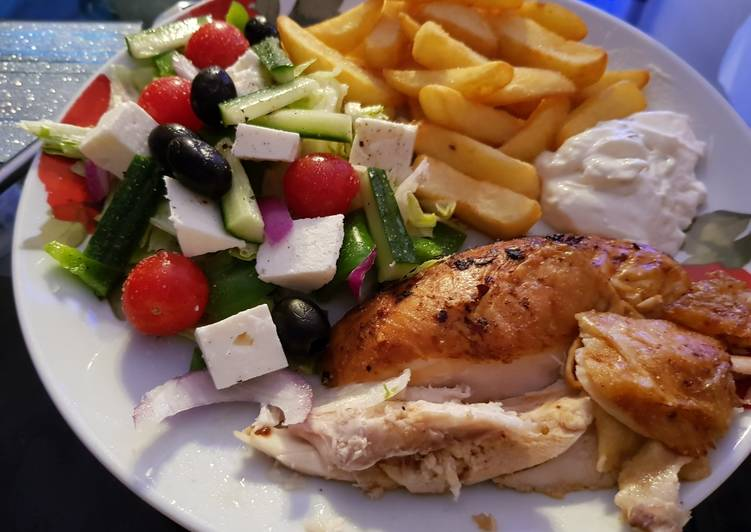 How to Make Tasty My Salt & Pepper fresh Chicken, Salad and homemade chips