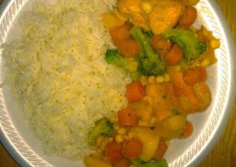 Vegetable Chicken with White Rice - Laurie G Edwards