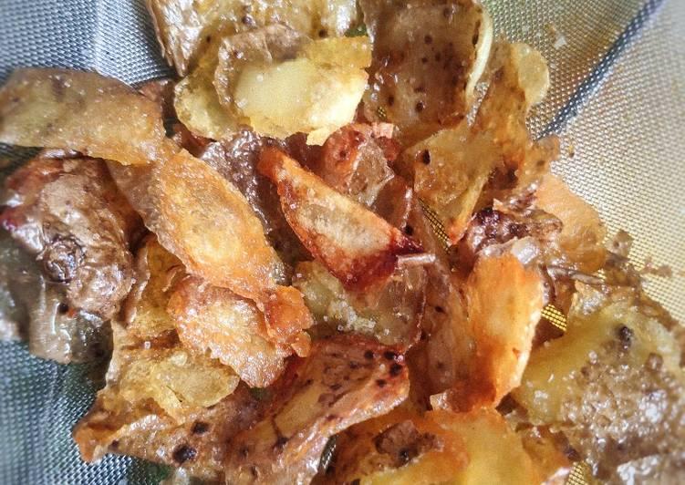 Crispy Potato Skin (Kulit kentang jangan dibuang!!)