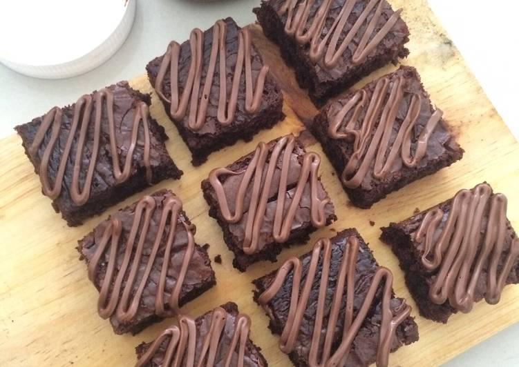 Resep Fudgy Nutella Brownies oleh Ayuzha Novalina - Cookpad