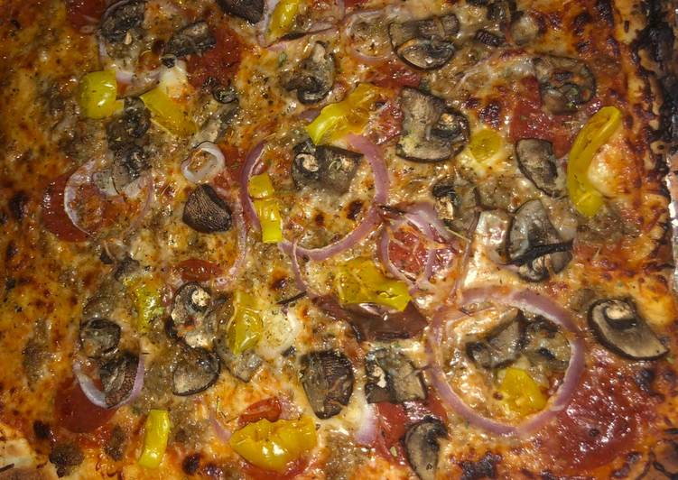 Recipe of Homemade Meat lovers pizza