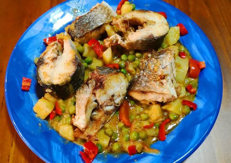 Goreng Ikan Gembung🎏🌶🍋🍅Gulai Sayur Kuning(Fried Mullet Fish)