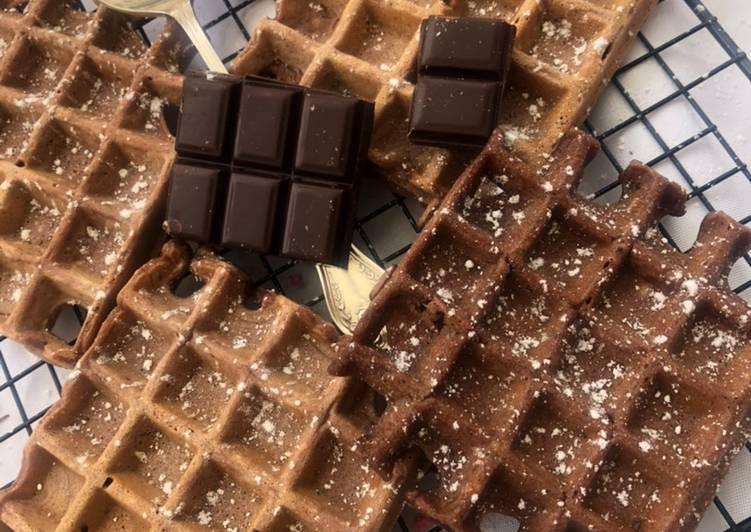 Recette: Gaufres au chocolat 🍫
