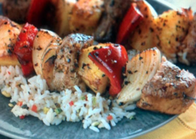 Simple Way to Prepare Perfect Caribbean Pork Kabobs