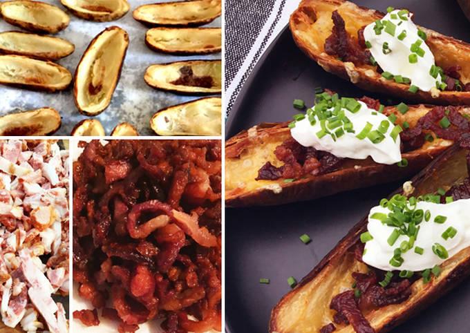 Fullblood Wagyu Beef Bacon Crispy Potato Skins