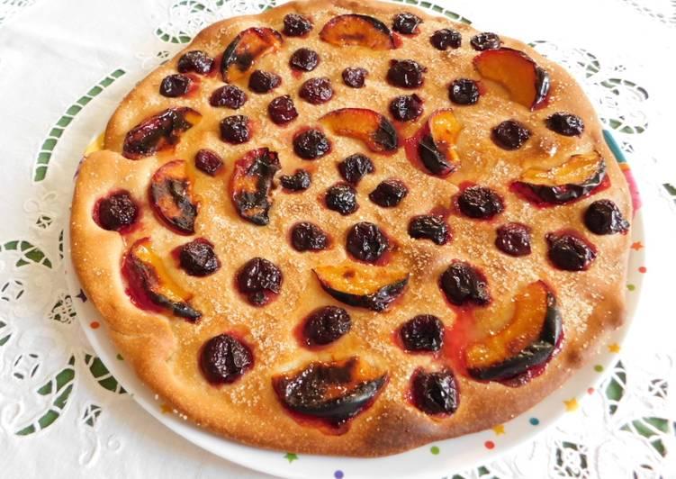 Ricetta Focaccia dolce alla frutta fresca