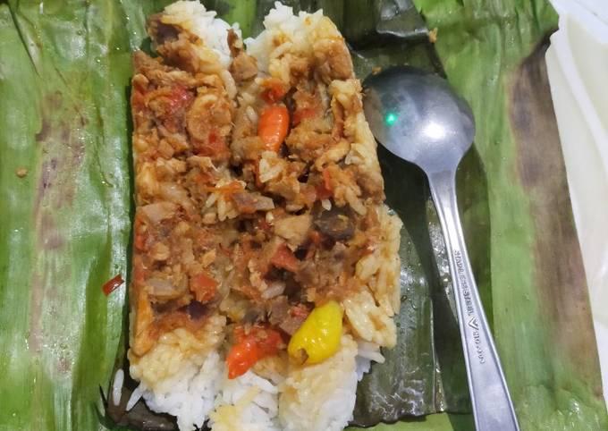Nasi Bakar Ayam Balado
