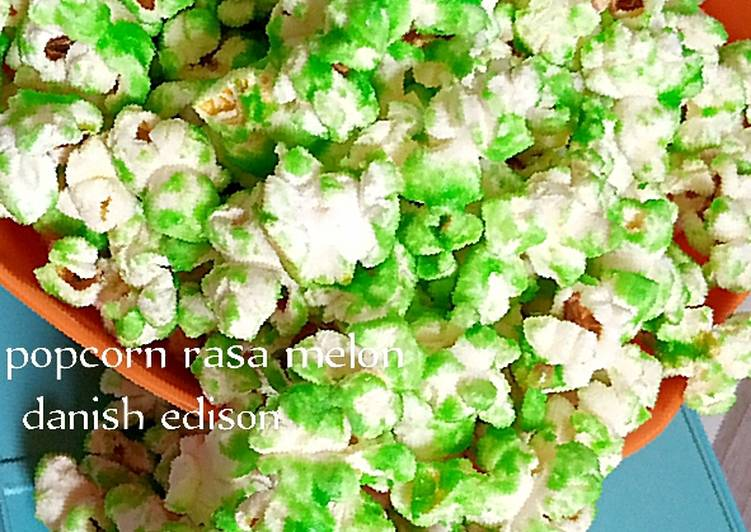 Popcorn rasa melon