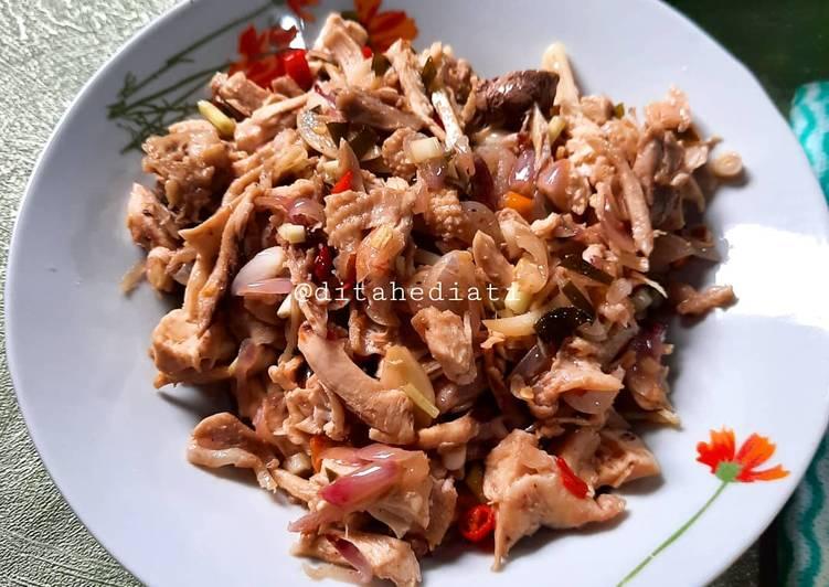 196. Ayam Suwir Sambal Matah