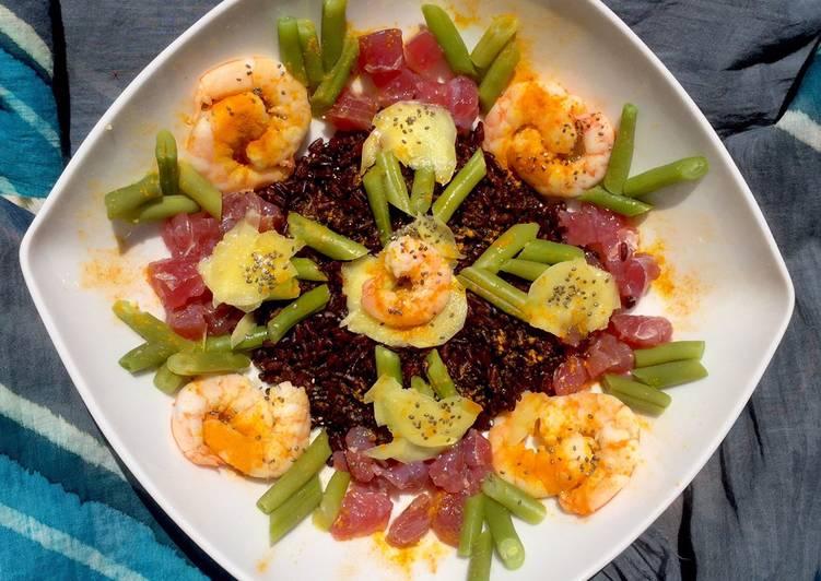 Come cucinare ricette Insalata di riso venere integrale (Ricetta Healthy) The Delicious