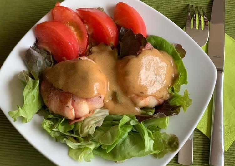 Salade tiède de chèvre lardé