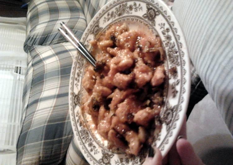 Sweet, sticky, & spicy chicken