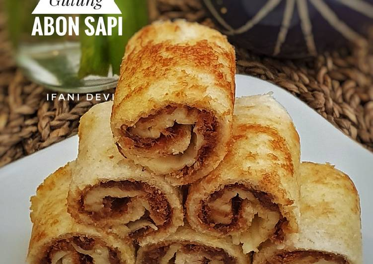 117. Sandwich Gulung Abon Sapi