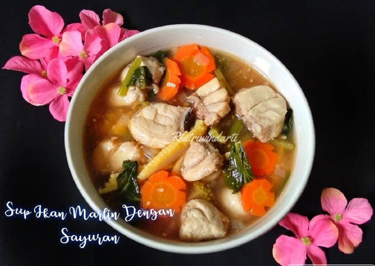 Sup Ikan Marlin Dengan Sayuran