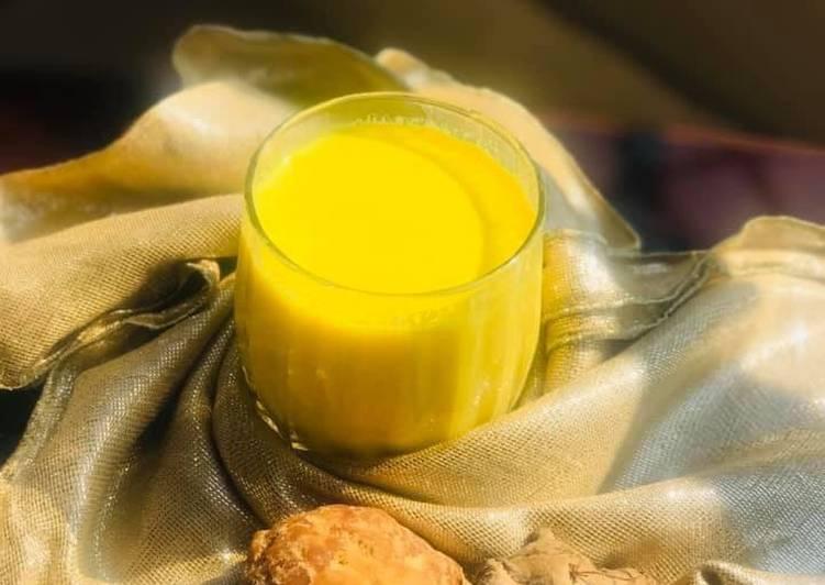 Golden milk or haldii wala doodh