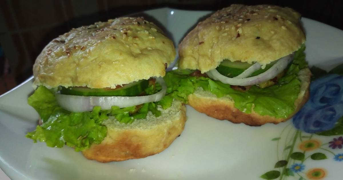 Homemade Chicken Burger Recipe By Ameenah Saidu Cookpad