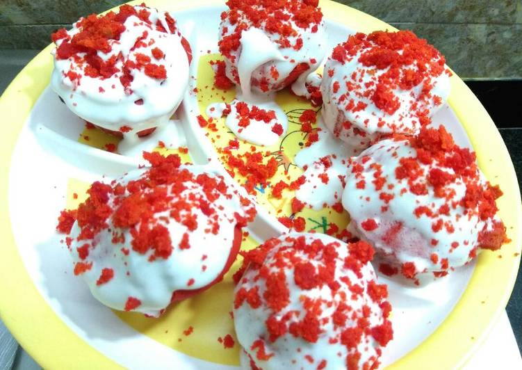 Red Velvet CupCakes / How to Make Cupcakes / Eggless CupCakes