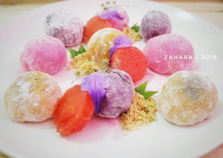 Rainbow Mochi (Isi Coklat Kacang) #KamisManis