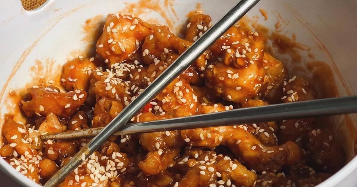 Korean Style Sweet Sour Chicken Recipe By Kusinacai Cookpad