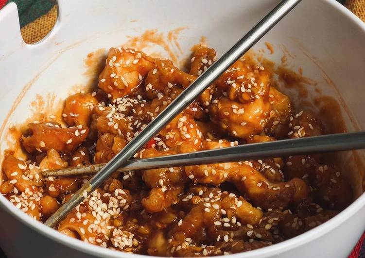 Korean style sweet & sour chicken
