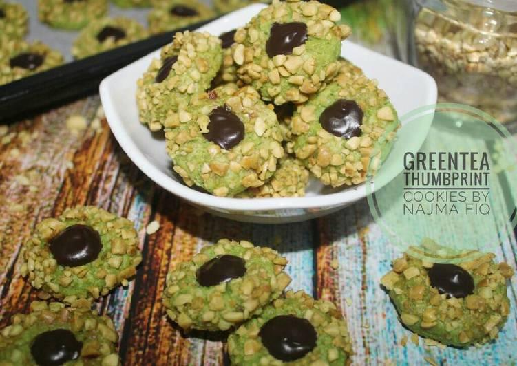 Greentea Thumbrint Cookies