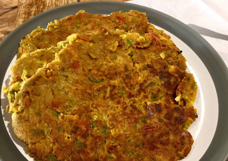 Indian Spiced Vegetable Pancake
