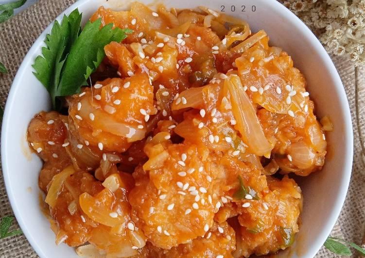Ayam Crispy Saus Tiram