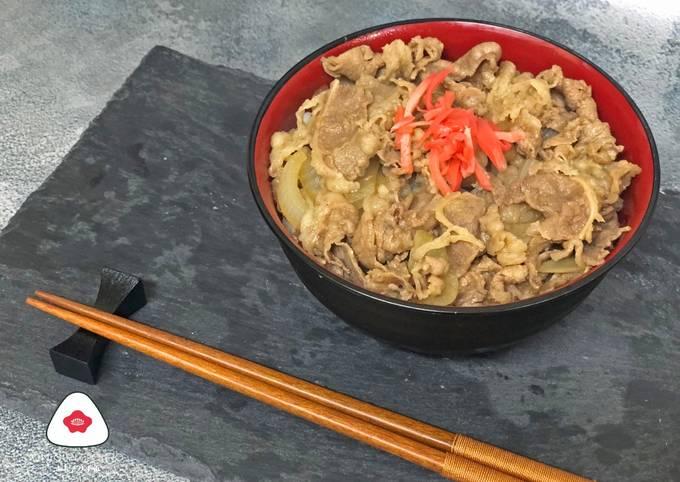 Beef Bowl ala Yoshinoya 牛丼 (吉野家風)