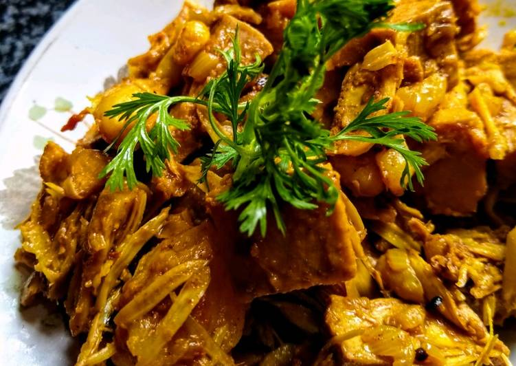 Recipe of Quick Kathal (Jackfruit) dry curry