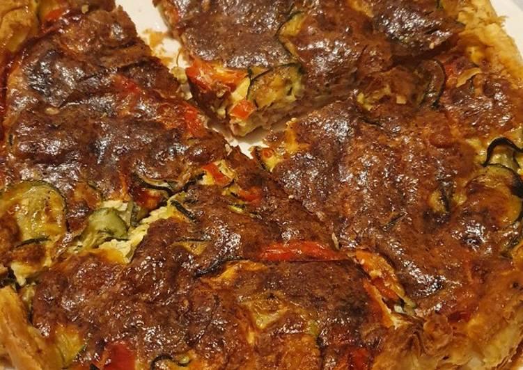 Recipe of Any-night-of-the-week Tarte Courgette Poivron Mozzarella