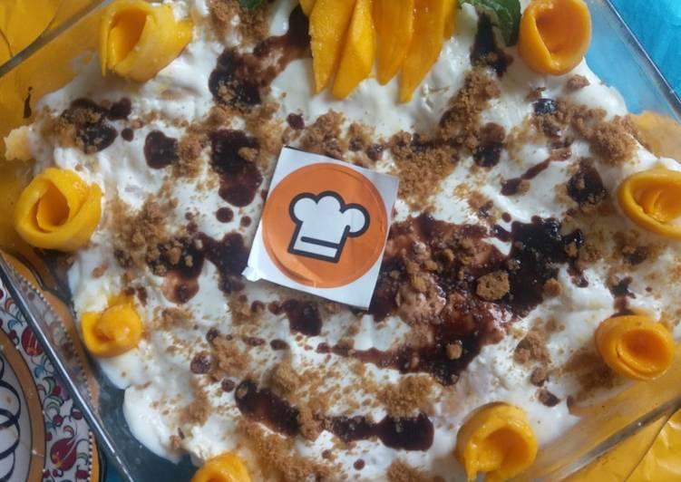 Recipe of Super Quick Homemade Mango tres leche cake
