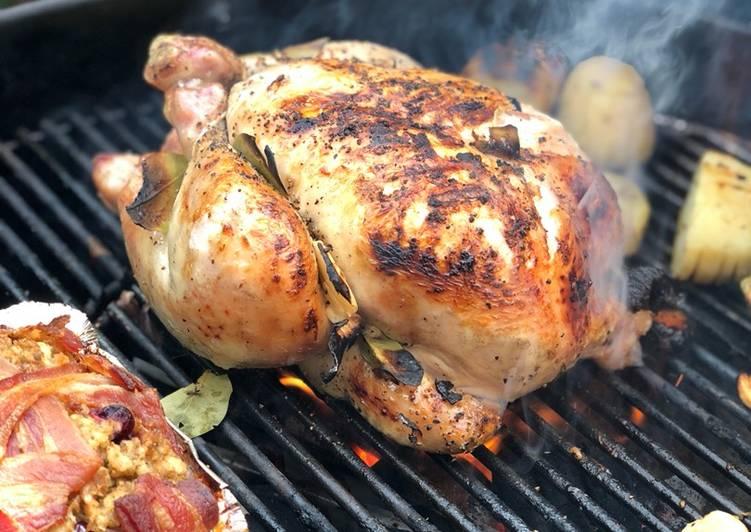 Hay baked cider chicken on the Braai (BBQ)